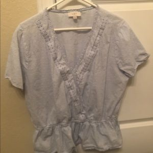 Loft baby blue blouse